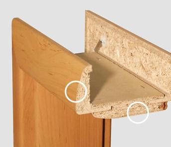 SOLODOOR Obložkové zárubně OBLÉ OSTĚNÍ, Šíře v cm 80 cm